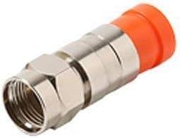Compression Coax F Connectors RG6 Pack of 10