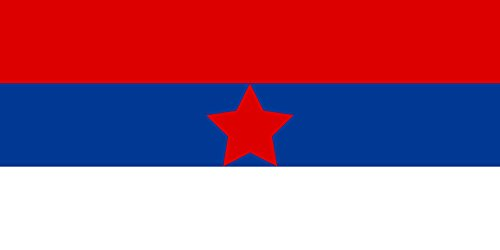 magFlags Large Flag Used by The Yugoslav Partisans in The Territory of The Military Commander in Serbia and in Areas of The Independent State of Croatia Where Serbs Lived   Landscape Flag   1.35m&s (Best Military Commanders In History)
