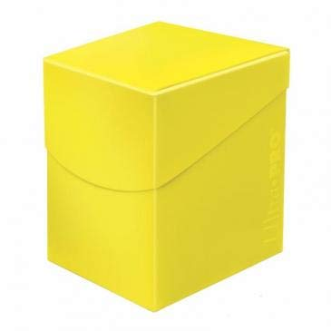 100 Yellow Small Case - Ultra Pro Standard Eclipse Pro 100+ Deck Box - Lemon Yellow