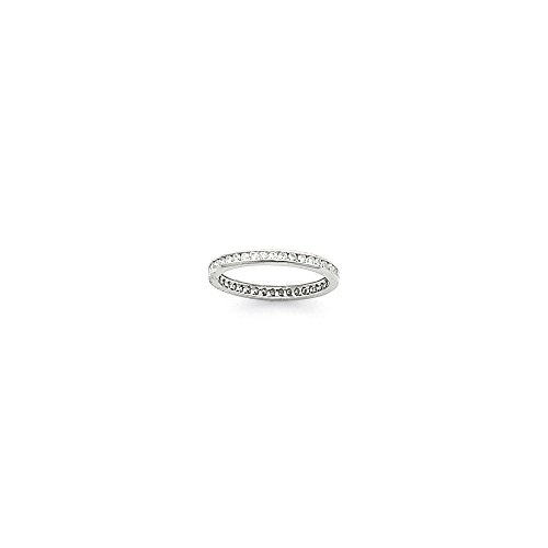 14k White Gold 2.25mm Wide Size 7 Eternity Band Mounting, Best Quality Free Gift Box - Base Only, No Stones - Eternity Band Mounting