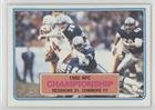1982 NFC Championship - Redskins vs. Cowboys (Football Card) 1983 Topps - [Base] #10 -