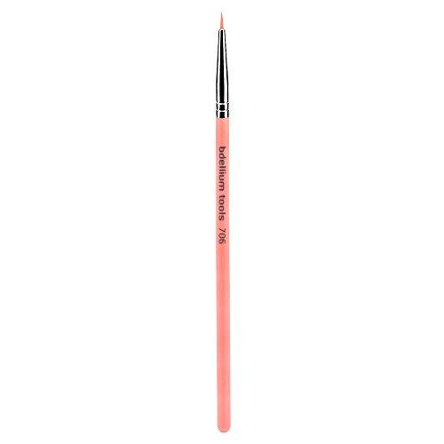 Bdellium Tools Professional Eco-Friendly Makeup Brush Pink Bambu Series - Fine Point Eyeliner 706 ()