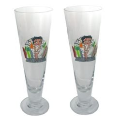 Hollywood Betty Boop 22 ounce Pilsner Glasses - Set of 2