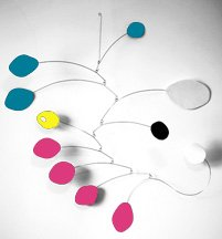 Atomic Baby Mobile - Hip Chic Nursery Decor - Calder Inspired Modern by Hanging Mobile by AtomicMobiles