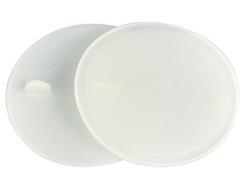 Leak Proof Platinum Silicone Sealing Lid Inserts/Liners for Mason Jars (10 Pack, Regular Mouth) (Circle Platinum Ring)