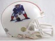 1982 Throwback Replica Mini Helmet - Riddell NFL New England Patriots 1982-1989 Throwback Replica Vsr4 Mini Football Helmet