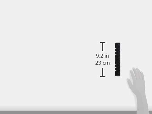 Filofax - Marcapáginas y regla 2 en 1 (tamaño A5), color negro