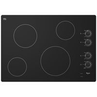 "Price comparison product image Whirlpool W5CE3024XB 30"" Black Electric Smoothtop Cooktop"