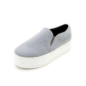 gris bizcocho una cabeza zapatos Lazy Uno redonda con base plana canas casual plana tan 39 con con Bones traficando qSw4PT