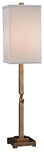 John Richard Table Lamp Center Twist White Antique Gold Leaf Black Iron (Table Lamp John Iron)