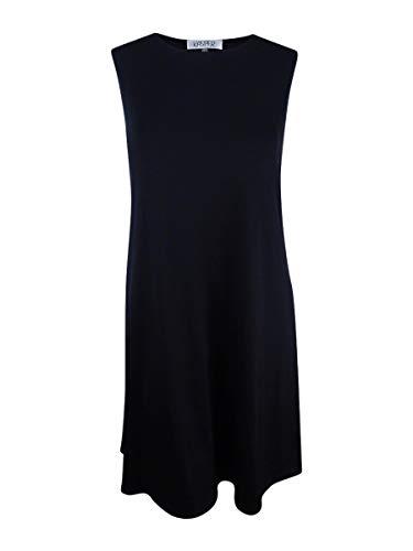 Kasper Women's Solid Swing Dress, Black XL