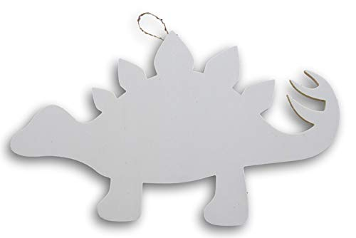 Craft Supply Stegosaurus Dinosaur Shaped Wood Cutout Plaque Sign - 15 Inches x 9 Inches ()
