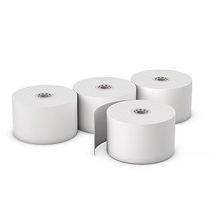 AmerCare 44mm x 150' White Bond Register Rolls with 7/16'' ID Core, 1 Ply, Case of 100 by Amercare (Image #1)