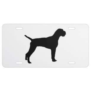 (Yohoba German Wire Haired Pointer Silhouette Love Dogs License Plate)