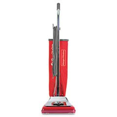 Heavy-Duty Commercial Upright Vacuum, 17.5 lbs, Chrome/Red