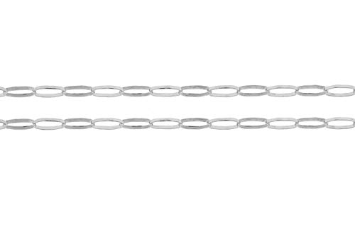 Sterling Silver 1.3mm Drawn Elongated Cable Chain - 100ft (5343-100)/1