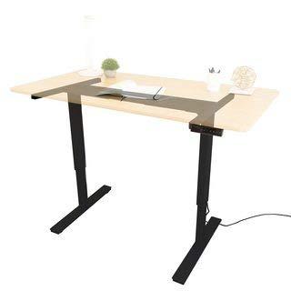 Ergo Elements Electric Height Adjustable Stand Up Desk Frame Workstation, Programmable Ergonomic Standing Base, Black