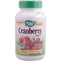 Natures Way Cranberry Fruit Capsule, 465 Mg, 100 caps (Pack of 3)