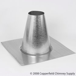 DuraVent 4GVFF Aluminum Tall Cone Flat Flashing with 4 Inch Inner Diameter, (Tall Cone Flat)