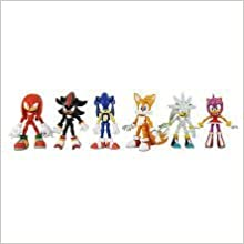Sonic The Hedgehog Modern Exclusive Action Figure Tails Knuckles Sonic Amy Shadow Silver By Jazwares Toys Amazon Com Books