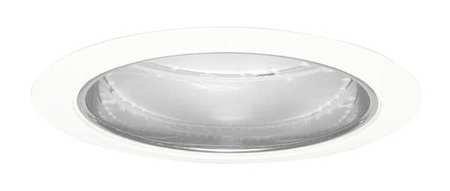 1- JUNO 204-CWH Recessed WHITE Trim, 5in, Aluminum Reflector 204C-WH CLEAR ALZAK