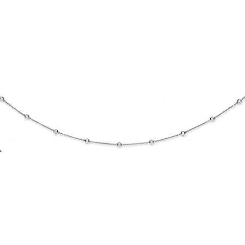 Or blanc 18carats 2.00CT carats Diamant Chaîne (91,4cm/91cm)