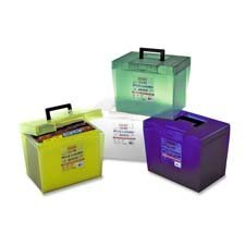 Esselte Pendaflex Corporation Products - File Box, w/ Latch Closures/Handles, Letter, Assorted - Sold as 1 EA - File box holds up to twenty 1/2