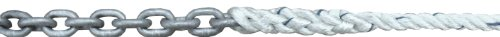 Titan 10517777 Anchor Rode Pre-Spliced with 15-Feet of 1/4-Inch G43 ISO HT Chain and 150-Feet of 1/2-Inch 3-Strand Nylon Rope (Strand Anchor Three Lines)