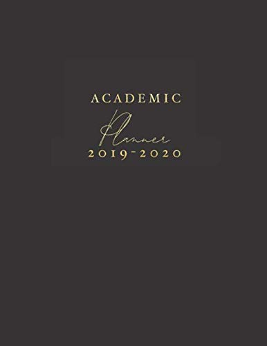 University Desktop Organizer - Academic Planner 2019-2020: Black Weekly & Monthly Schedule Diary August 2019 To July 2020 Timetable | 8.5