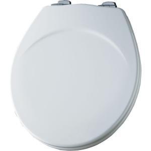 Bemis Whisper Close Round Toilet Set in White
