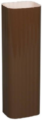 Amerimax Home Products 3201419120 Brown Galvanized Steel Downspout, 2 x 3 in. - Pack of 10