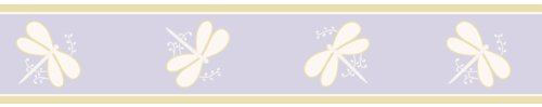 Purple Dragonfly Dreams Baby and Kids Wall Border by Sweet Jojo ()