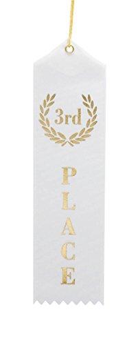 Place White Award Ribbons String