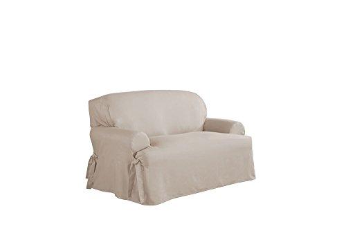 Duck Loveseat Slipcover (Serta Relaxed Fit Duck Furniture Slipcover for T-Love Seat, Khaki)