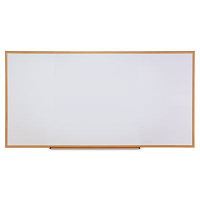 Dry-Erase Board, Melamine, 96 x 48, White, Oak-Finished Frame, Sold as 1 Each by Universal One