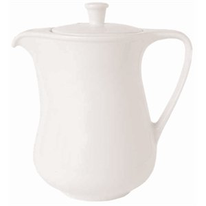Classique Blanc Capacité Coffee Pot: 1 litre (37 onces).