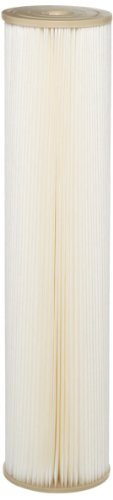"Pentek ECP1-20BB Pleated Cellulose Polyester Filter Cartridge, 20"" x 4-1/2"", 1 Micron"