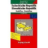Carte routière : Europaserie, Tschechische Republik, Slowakische Republik