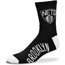 NBA Brooklyn Nets Men's Team Quarter Socks, Large