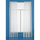 Room Essentials White Voile Window - Sheer Room Essentials Window