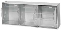 Quantum QTB303 Clear 7-3/4-Inch by 23-5/8-Inch by 9-1/2-Inch Tip Out Bin System, Gray