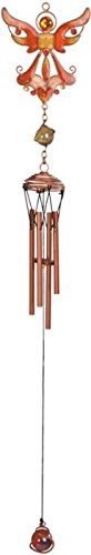 Cheap StealStreet SS-G-99367 Gem Copper Toned Wind Chime with Orange Flying Angel, 22.5″