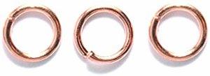 Shipwreck Beads 6FI221-C Electroplated Brass 21 Gauge Jump Rings Plate, 6mm, Metallic, Copper ()