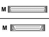 10ft Ext SCSI Cable Hd68m/cent50m Thumbscrews - 10' Ext Scsi
