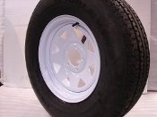 14-White-Spoke-Trailer-Wheel-with-Radial-ST20575R14-Tire-Mounted-5x45-bolt-circle