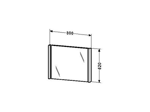 Duravit Spiegel mit Beleuchtung 2nd floor 72x800x620mm, eiche anthrazit, 2F964706262