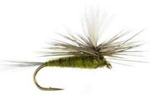 Feeder Creek Fly Fishing Trout Flies - Blue Wing Olive Parachute - One Dozen Flies - 4 12,14,16,18 (18)