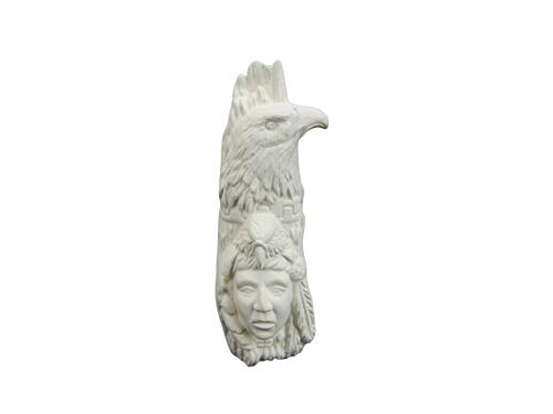 (Small Eagle Totem - Unpainted (Ready to Paint) Ceramic Bisque)