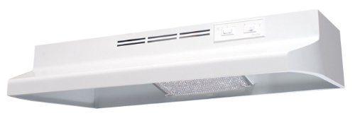 (Air King AR1363 7-Inch Round Ducting Under Cabinet Range Hood with 2-Speed Blower and 180-CFM, 7.5-Sones, 36-Inch Wide, White Finish)