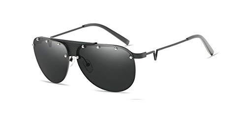 de black Gafas único Silver diseño Sol Retro Revestimiento con gray Hombre Estilo para Metal Mujer para Color Gray Merriz de de 0qaTd0H